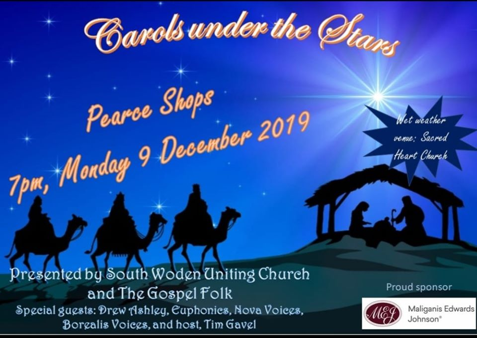 Pearce Carols under the Stars flyer 2019